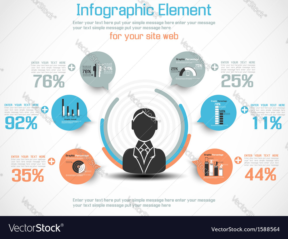 Infographic modern people business new style vector | Price: 1 Credit (USD $1)