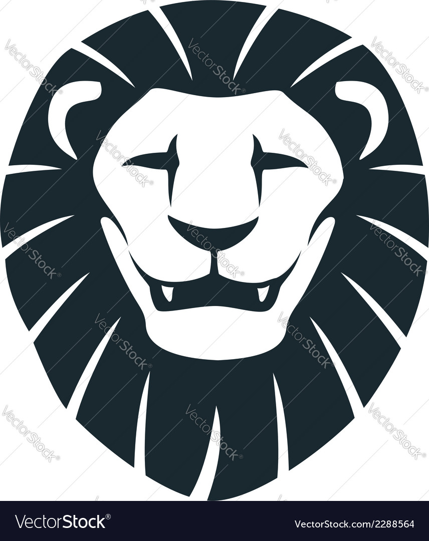 Lion head insignia vector | Price: 1 Credit (USD $1)