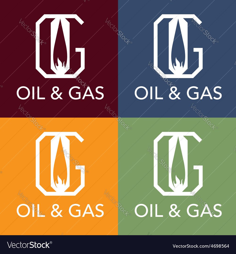 Oil and gas monogram vector | Price: 1 Credit (USD $1)