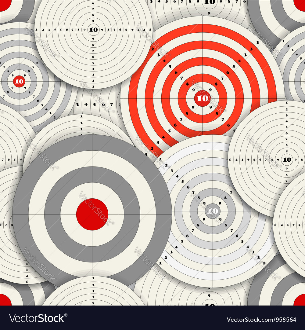 Seamless background of different targets vector | Price: 1 Credit (USD $1)