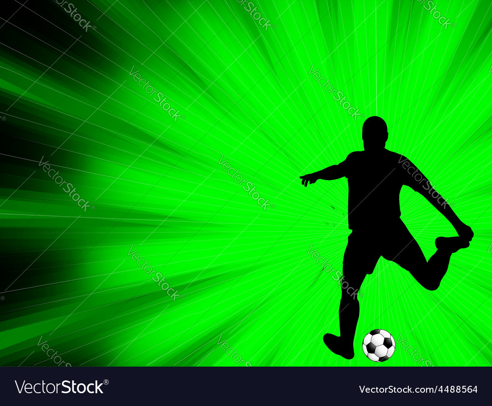 Soccer player - abstract background vector | Price: 1 Credit (USD $1)