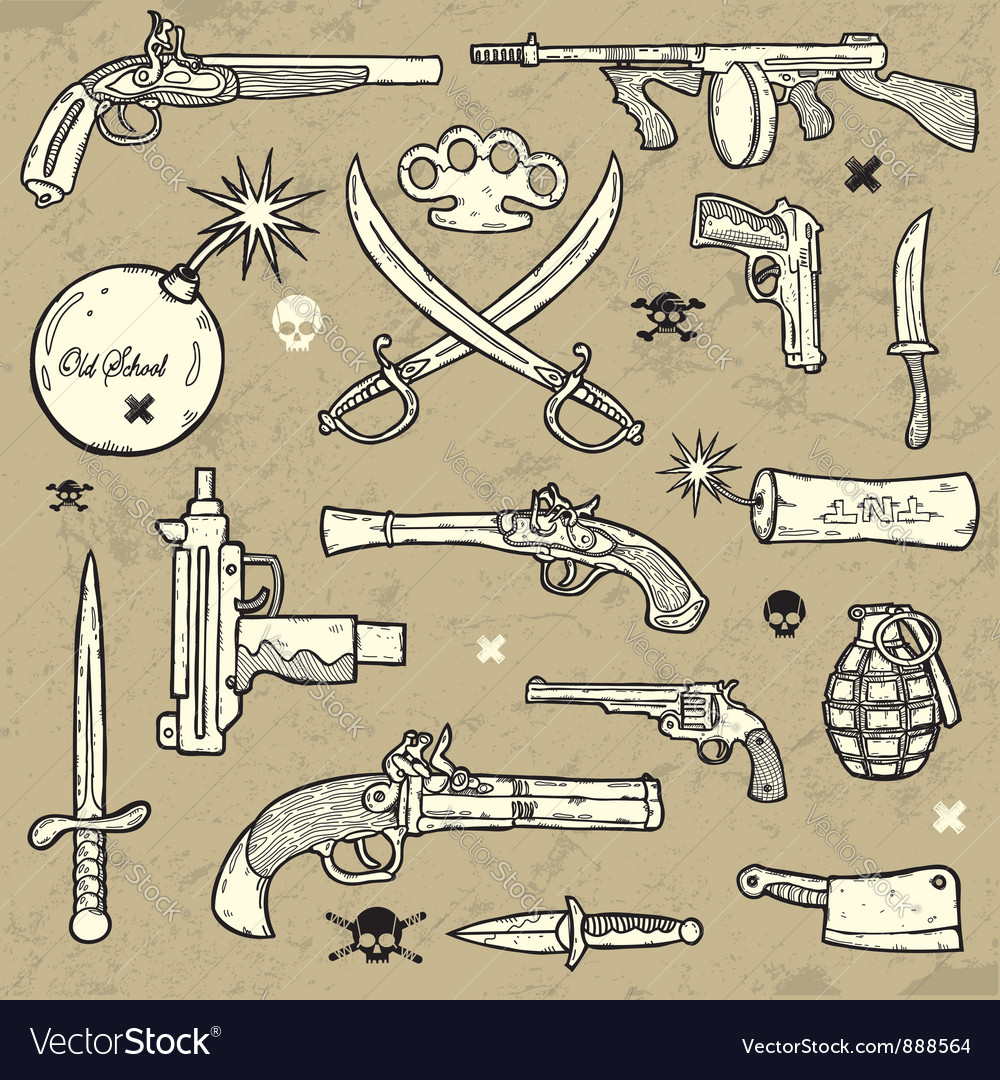 Weapons set vector | Price: 3 Credit (USD $3)