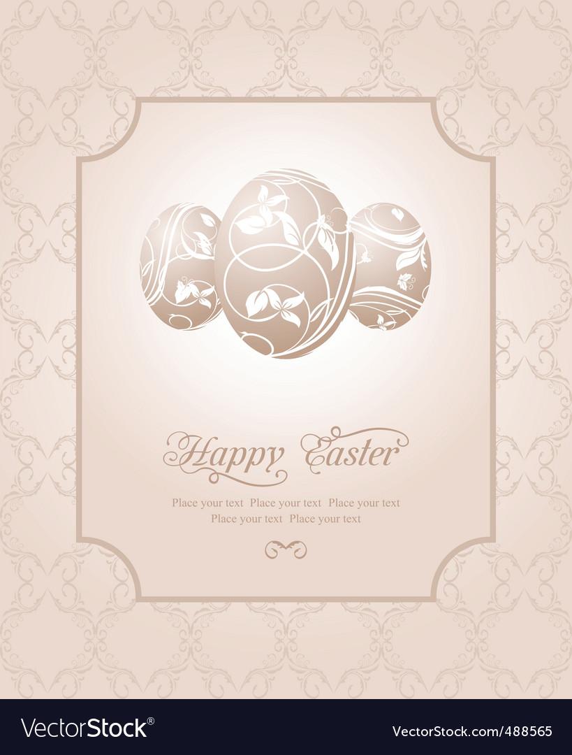 Easter vintage card vector | Price: 1 Credit (USD $1)