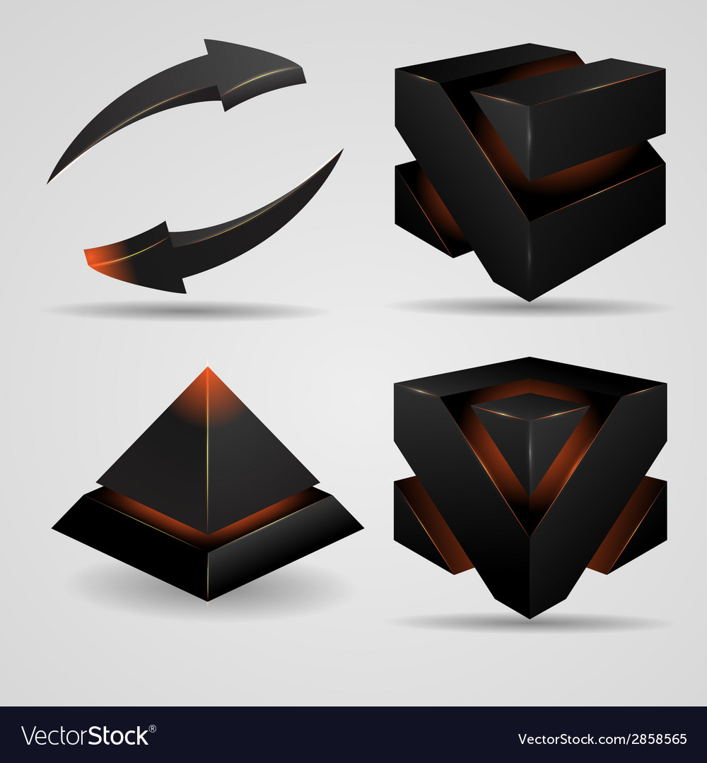 Geometric abstract futuristic gloomy gothic vector | Price: 1 Credit (USD $1)
