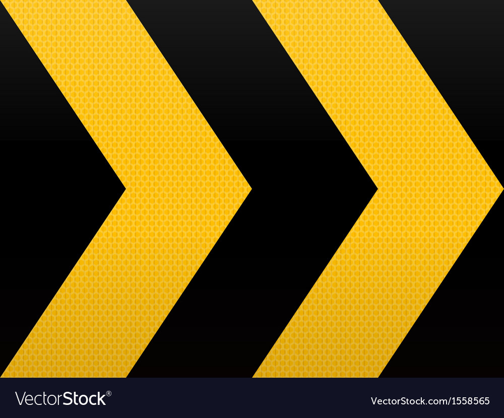 Seamless yellow black arrow vector | Price: 1 Credit (USD $1)