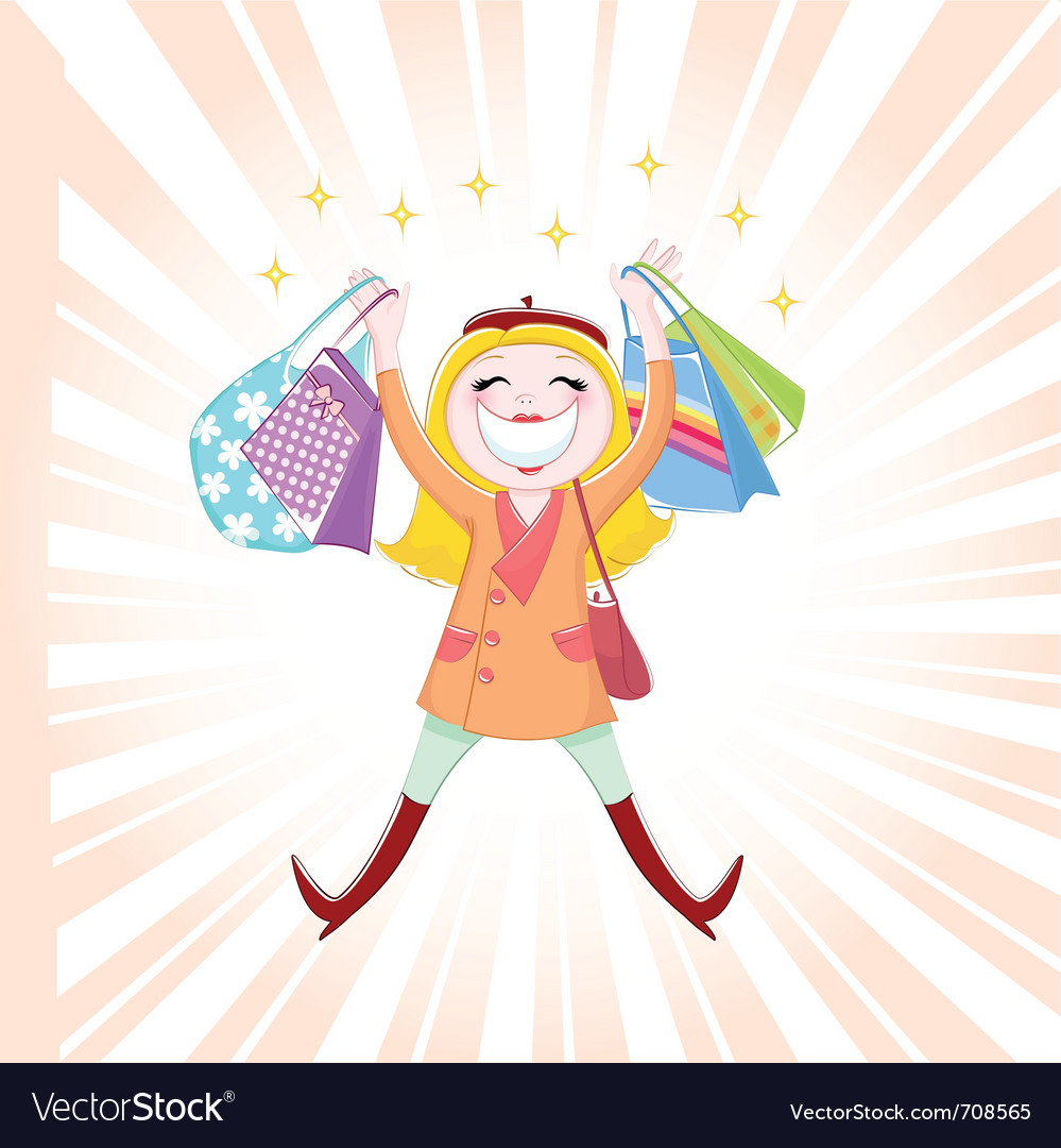 Shopping is fun vector | Price: 3 Credit (USD $3)