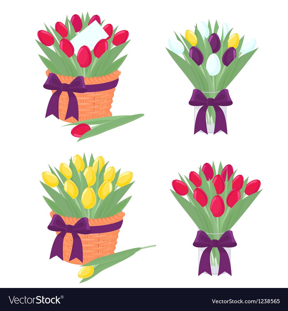 Tulip bouquet vector | Price: 1 Credit (USD $1)