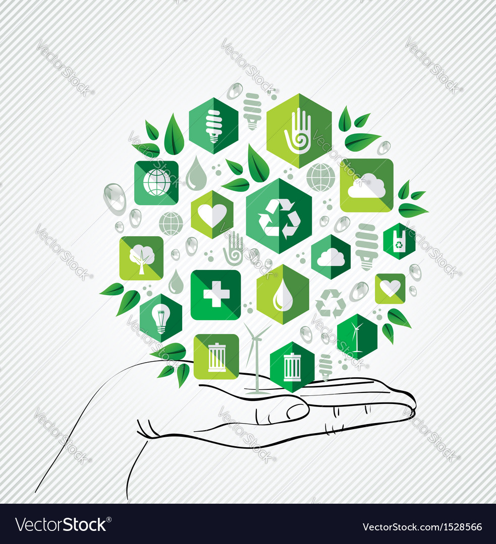 Conservation hand concept vector | Price: 1 Credit (USD $1)