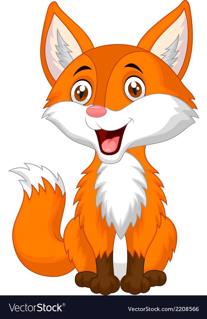 Cute fox cartoon vector | Price: 1 Credit (USD $1)
