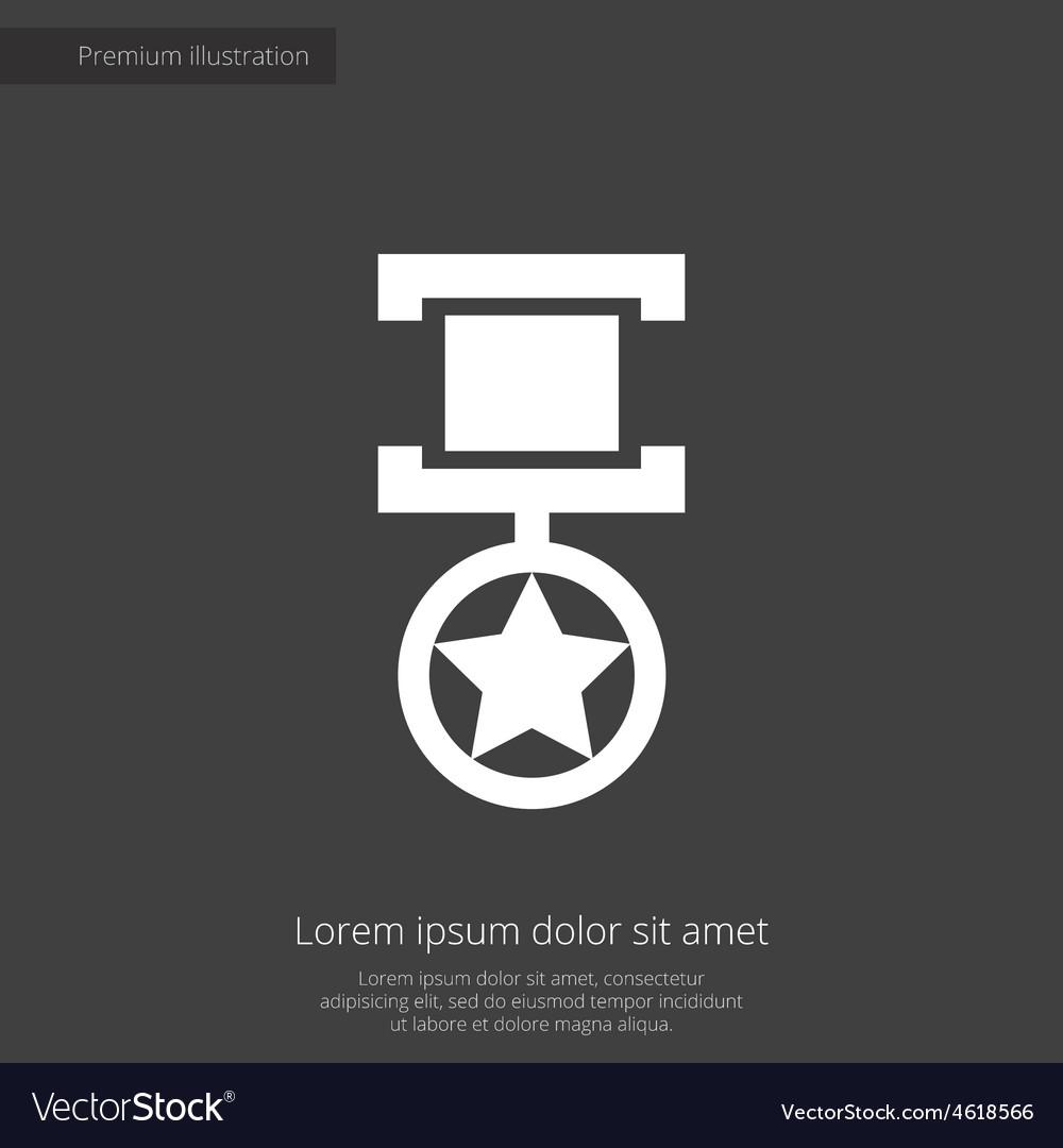 Medal premium icon vector | Price: 1 Credit (USD $1)
