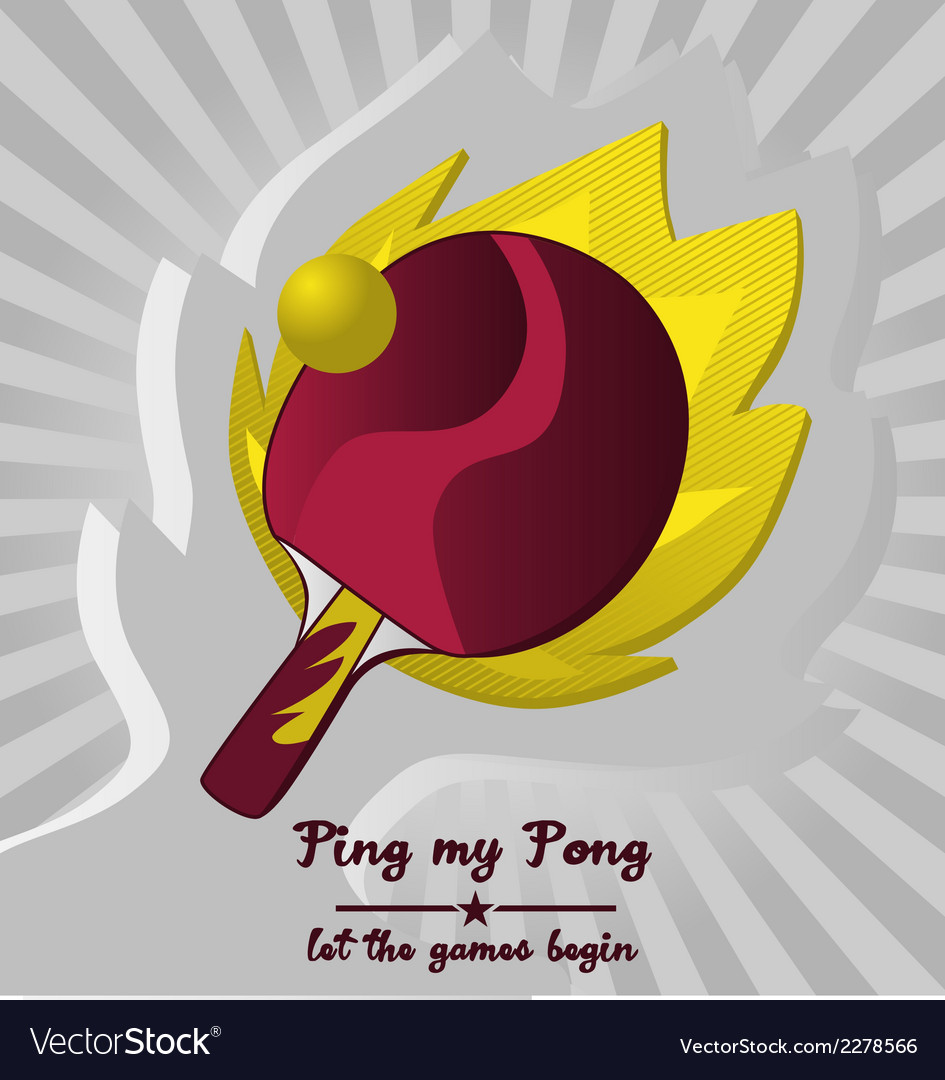 Ping pong with flame background vector | Price: 1 Credit (USD $1)