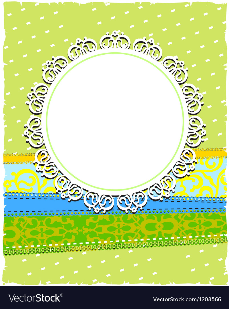Round white ornamental frame vector | Price: 1 Credit (USD $1)