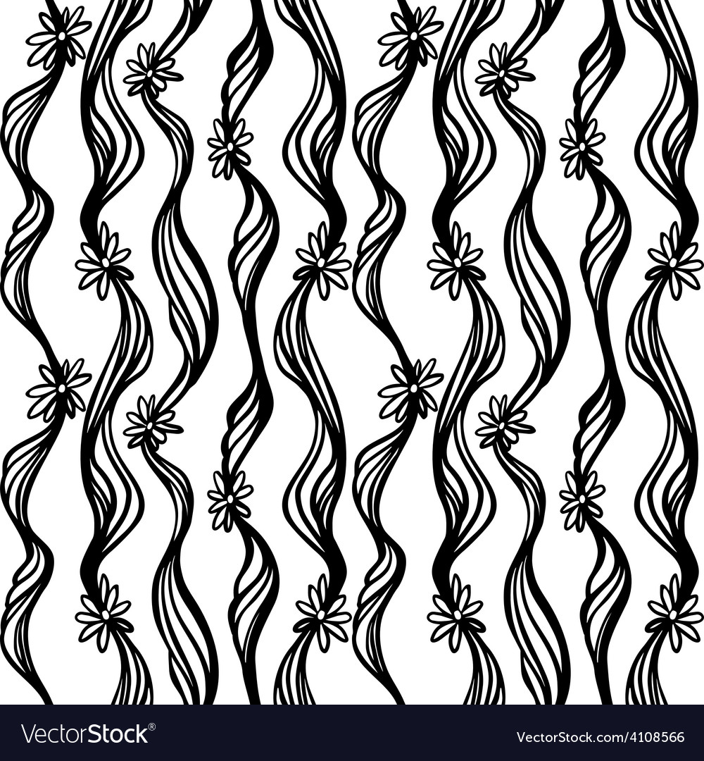 Seamless hand drawn abstract pattern doodle sketch vector | Price: 1 Credit (USD $1)
