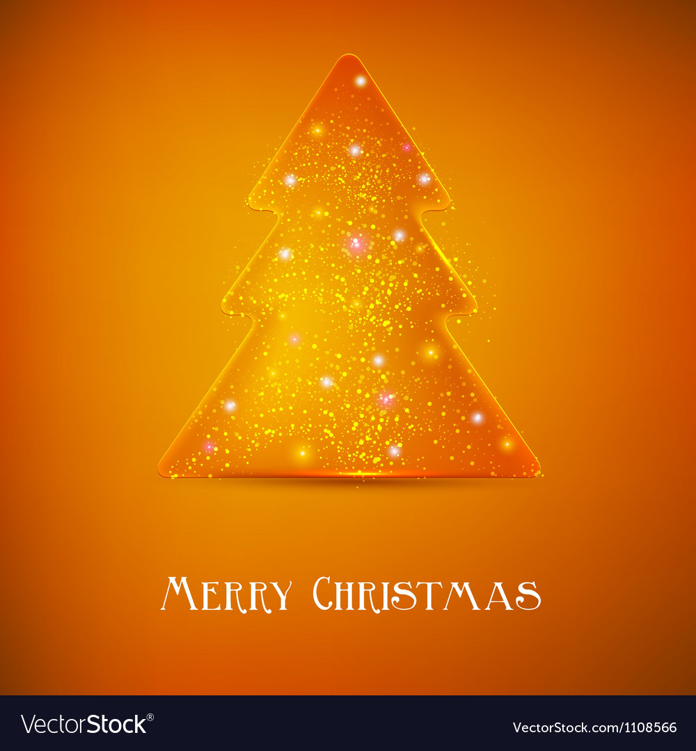 Stylized luminous christmas tree background with vector | Price: 1 Credit (USD $1)