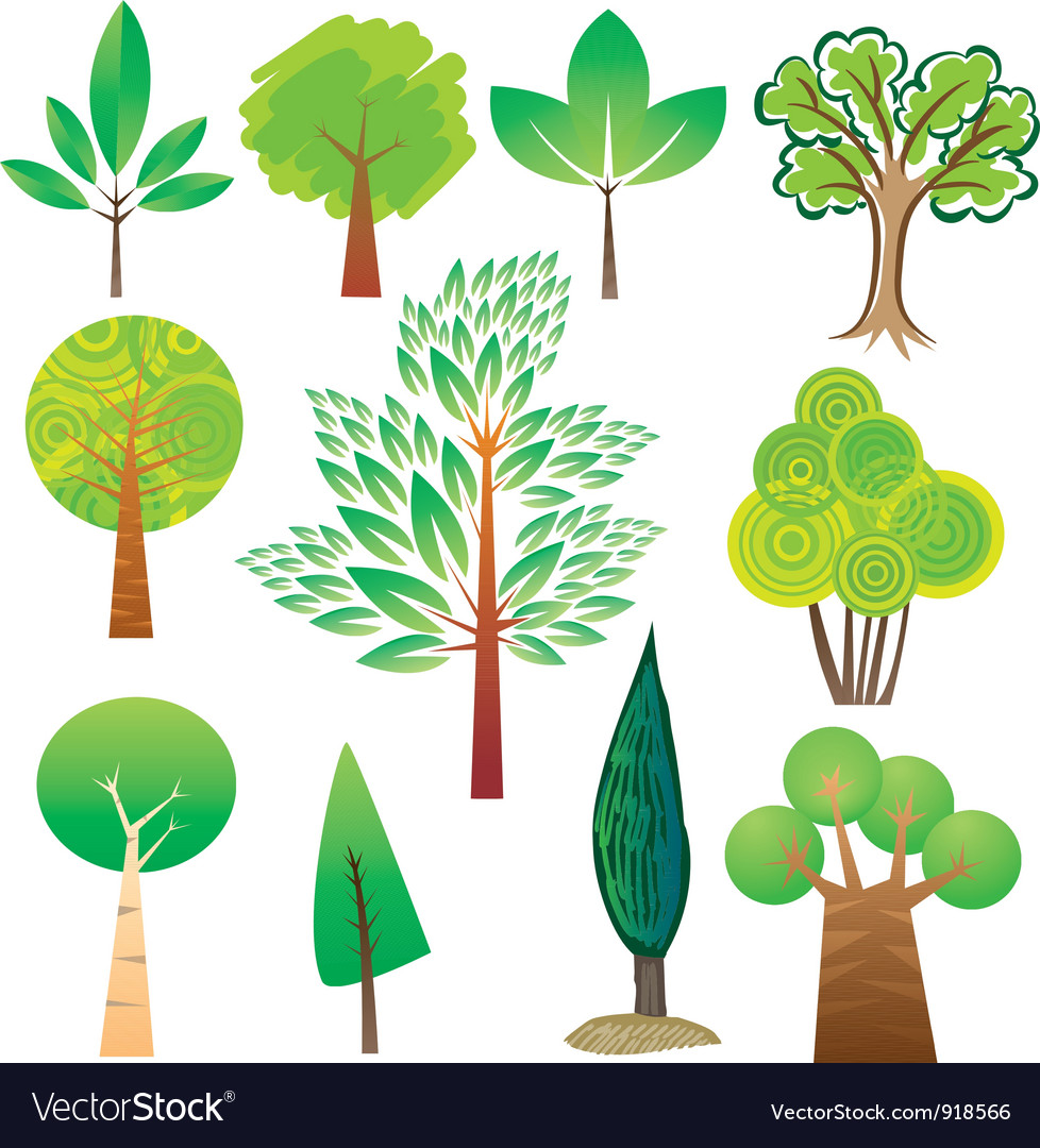 Tree samples vector | Price: 1 Credit (USD $1)