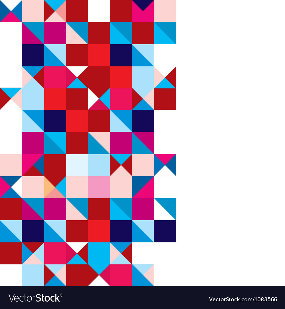 Triangle abstract tricolour vector | Price: 1 Credit (USD $1)