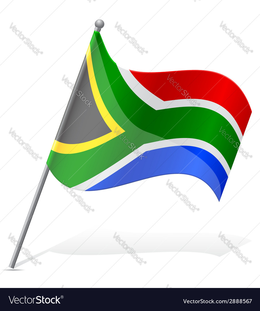 Flag south african republic vector | Price: 1 Credit (USD $1)