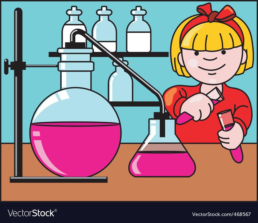 Girl research vector