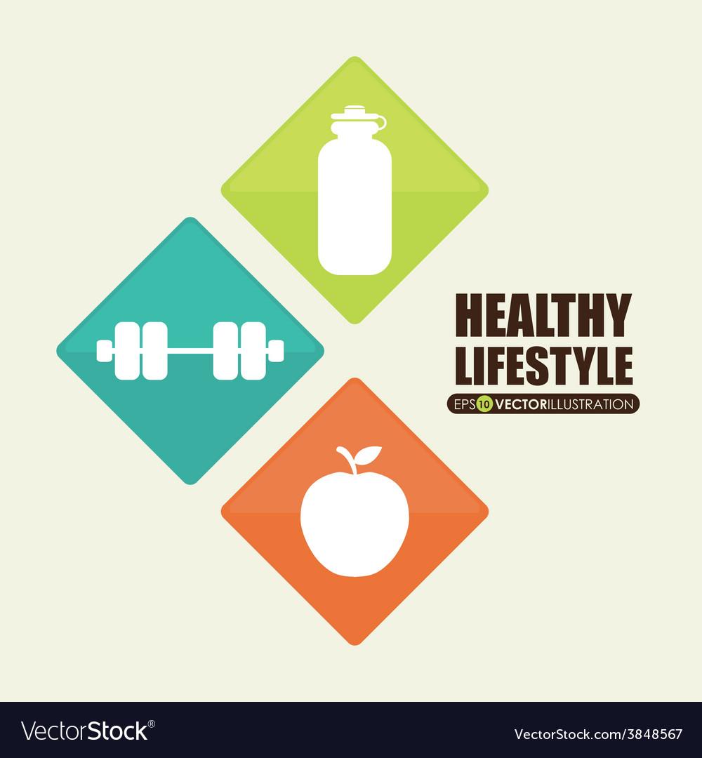Healthy lifestyle vector   Price: 1 Credit (USD $1)