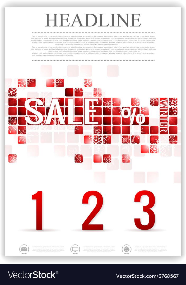 Last winter sale flyer template vector | Price: 1 Credit (USD $1)
