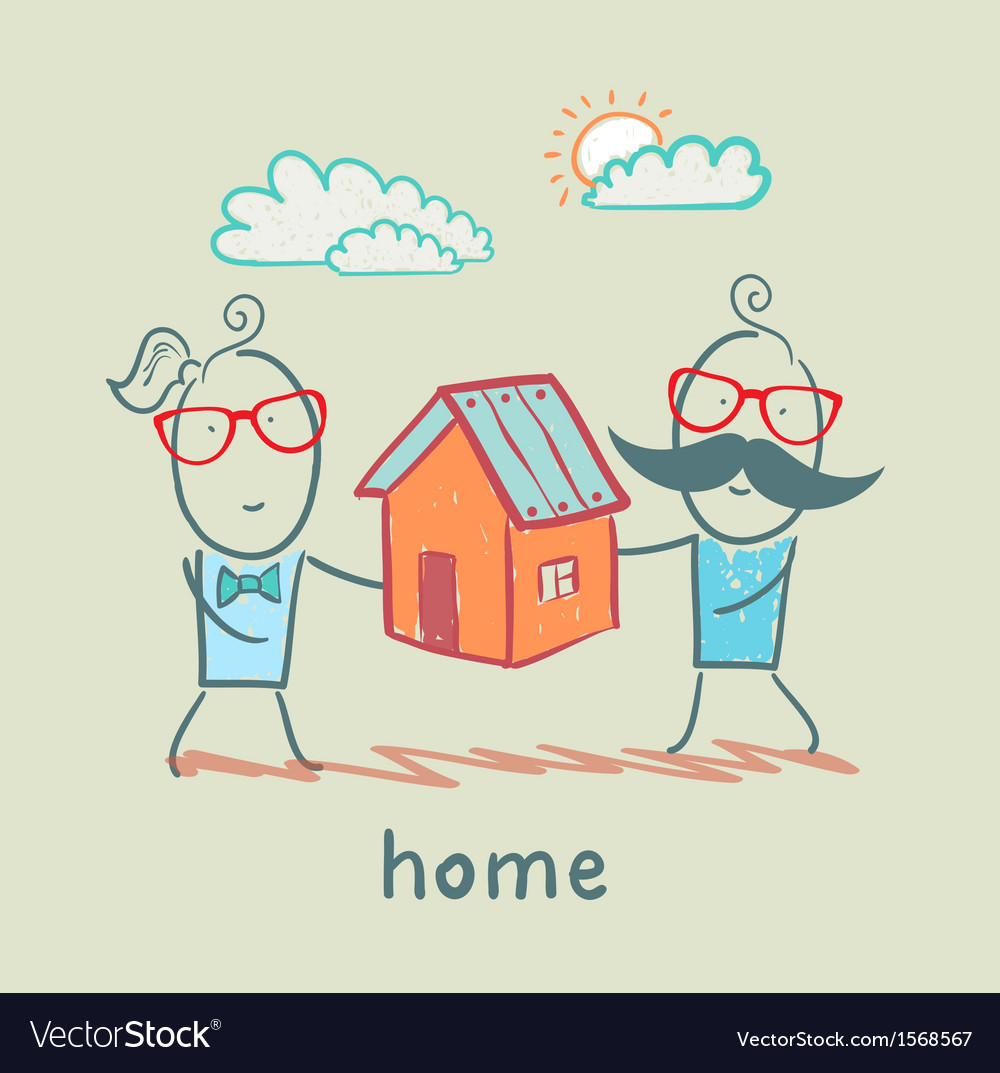 People keep house vector | Price: 1 Credit (USD $1)