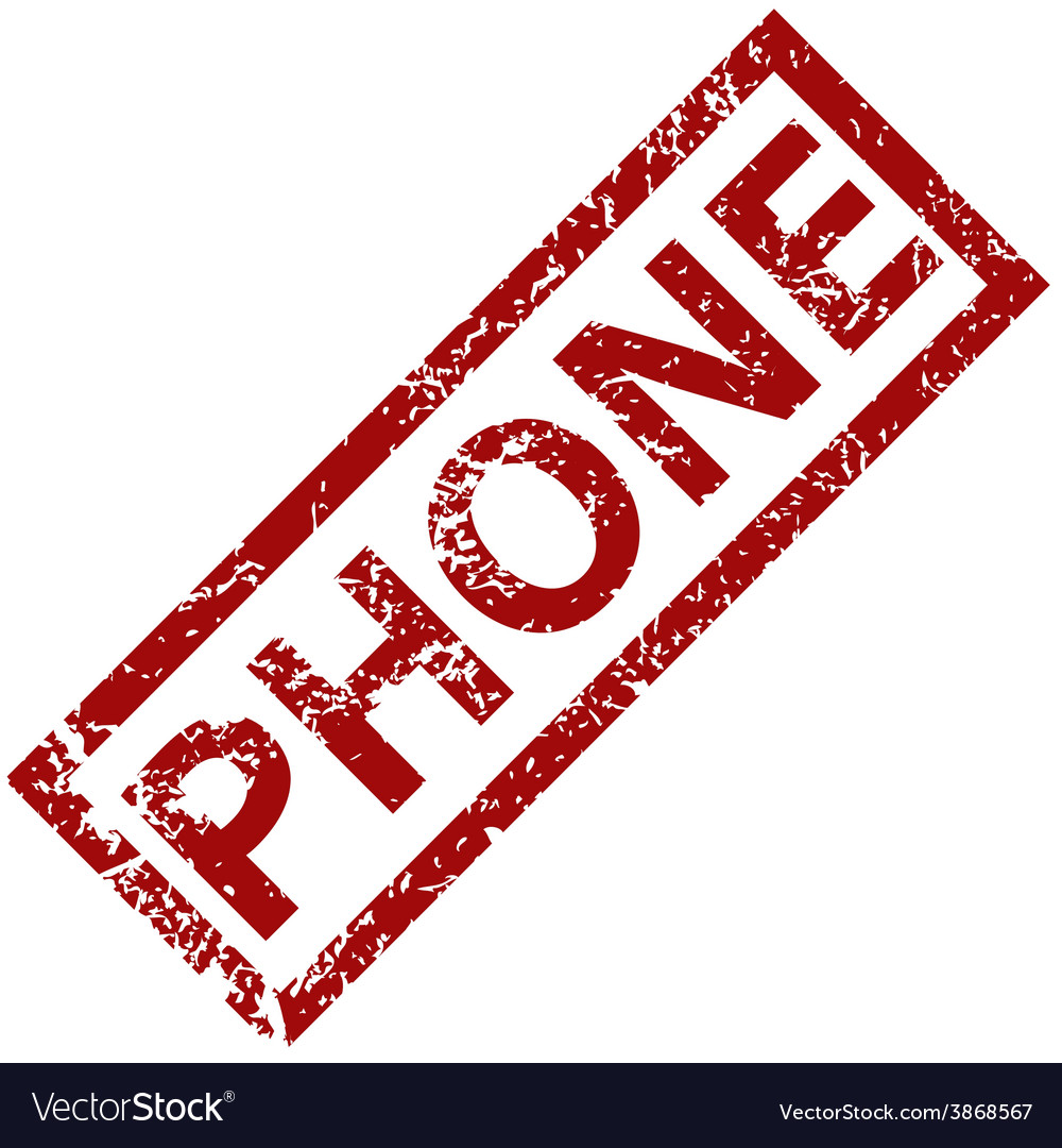 Phone rubber stamp vector | Price: 1 Credit (USD $1)