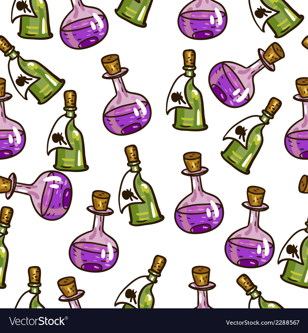 Seamless background with chemical flasks vector | Price: 1 Credit (USD $1)