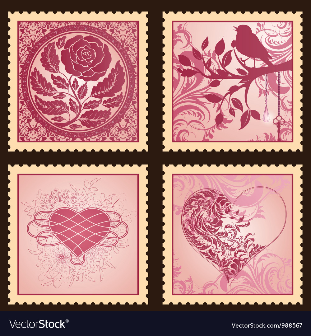 Set of romantic marks vector | Price: 3 Credit (USD $3)