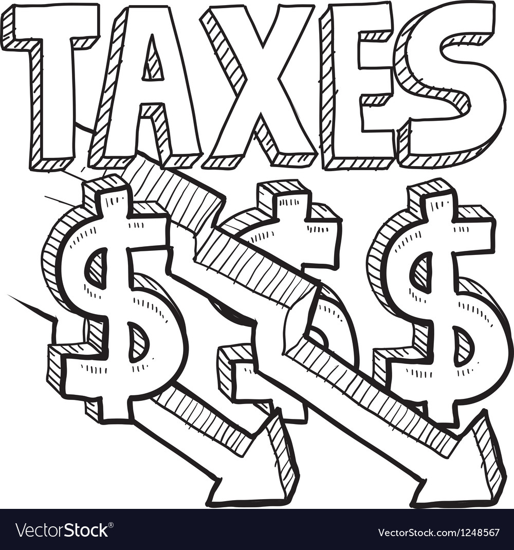 Taxes and arrow vector | Price: 1 Credit (USD $1)