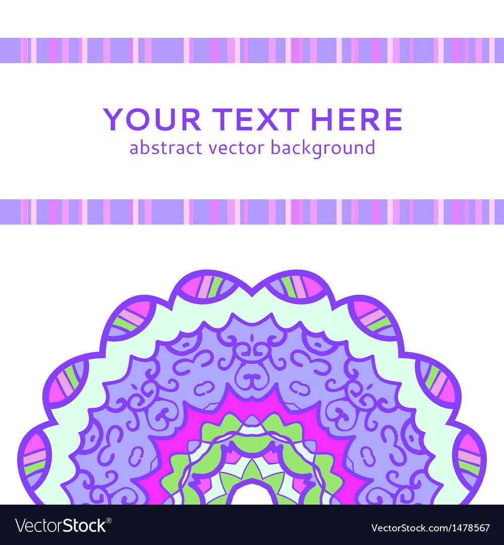 Vintage violet invitation card vector | Price: 1 Credit (USD $1)