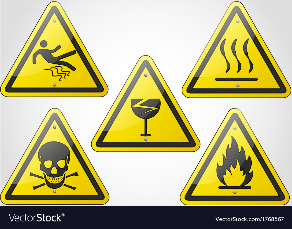 Warning sign set 2 vector | Price: 1 Credit (USD $1)