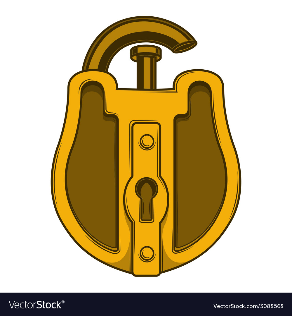 Antique golden lock vector | Price: 1 Credit (USD $1)