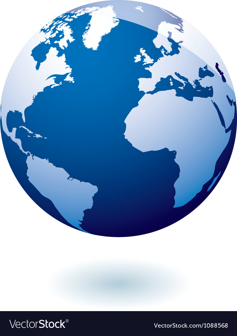 Blue icon earth gel vector | Price: 1 Credit (USD $1)