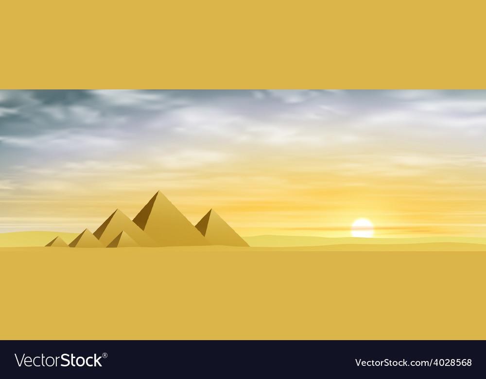 Egyptian pyramids vector | Price: 1 Credit (USD $1)