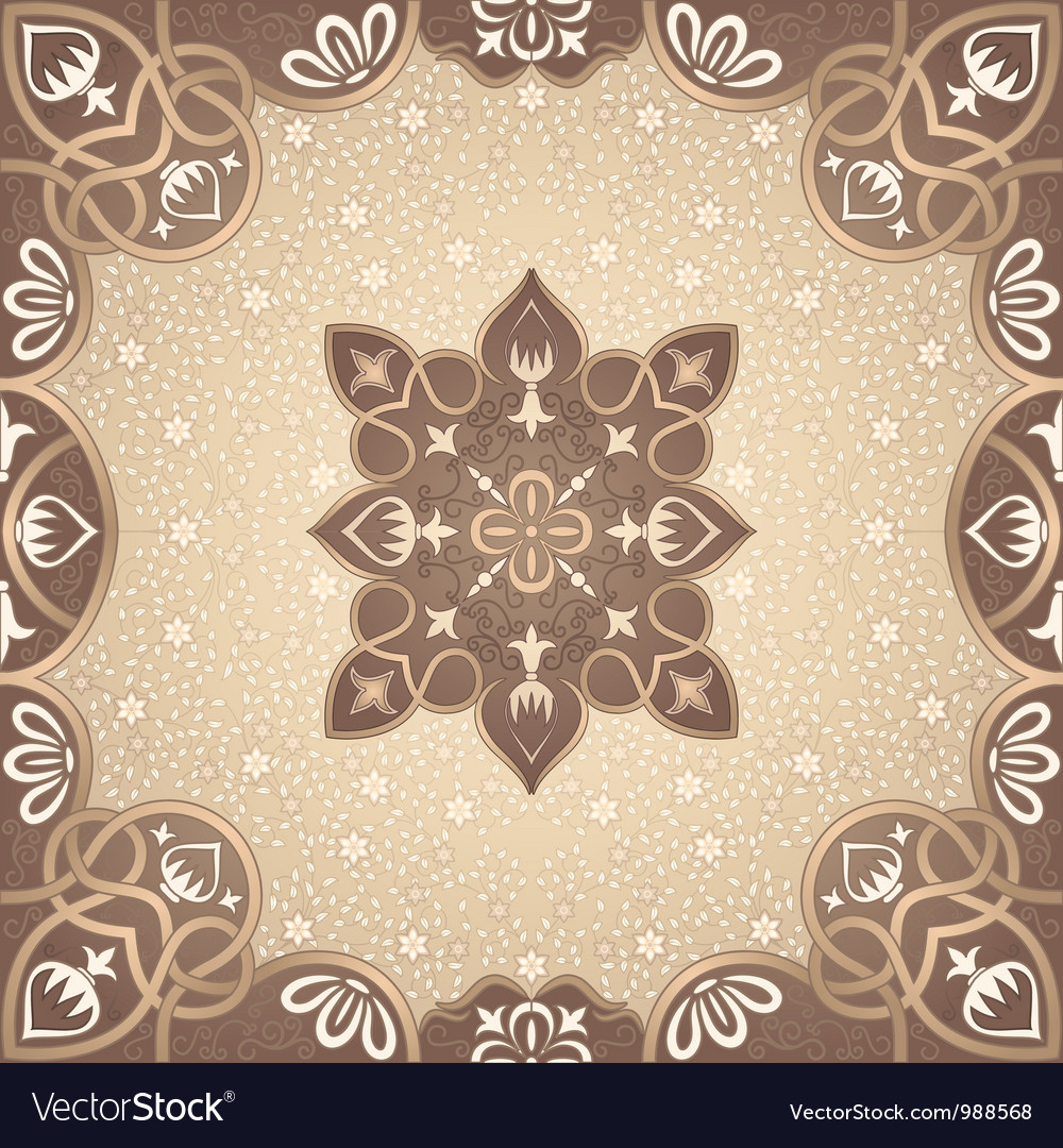 Floral arabesque ornament vector | Price: 1 Credit (USD $1)