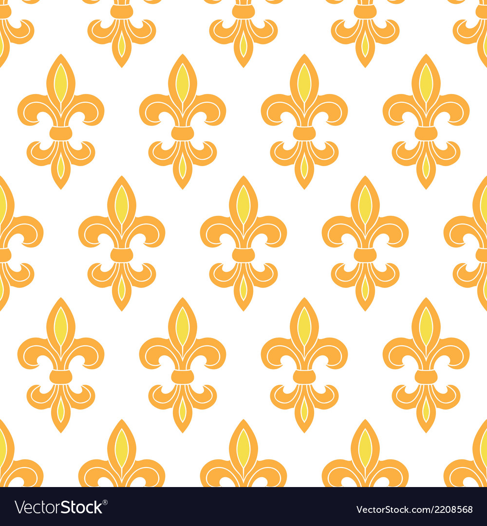 Golden lily seamless pattern background vector | Price: 1 Credit (USD $1)