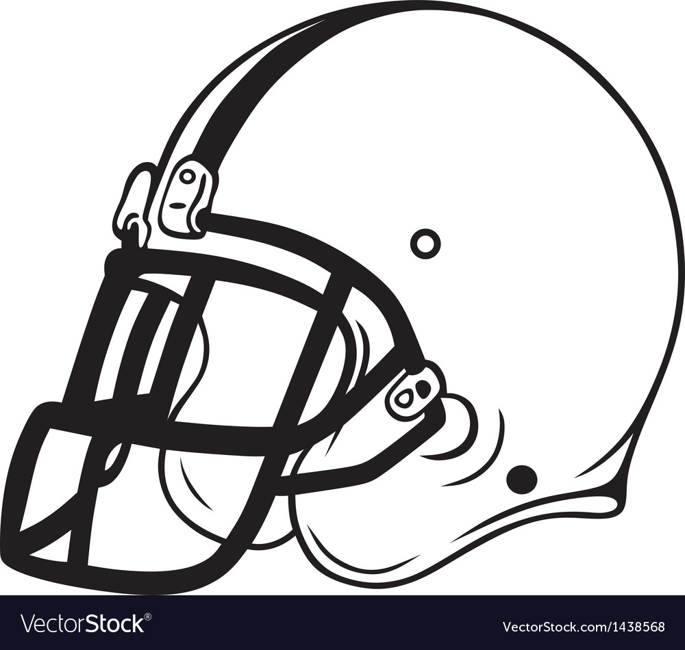 Helmet football vector | Price: 1 Credit (USD $1)