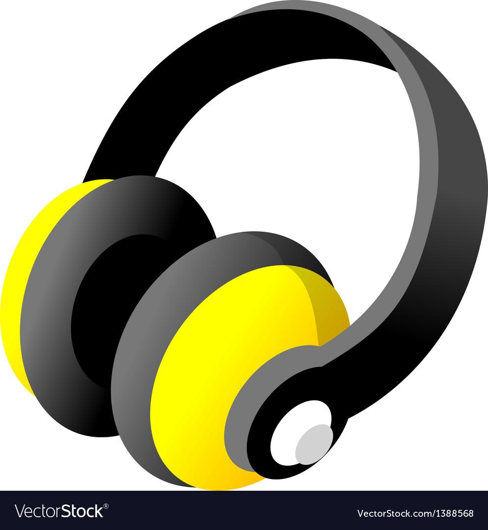 Icon headphone vector   Price: 1 Credit (USD $1)
