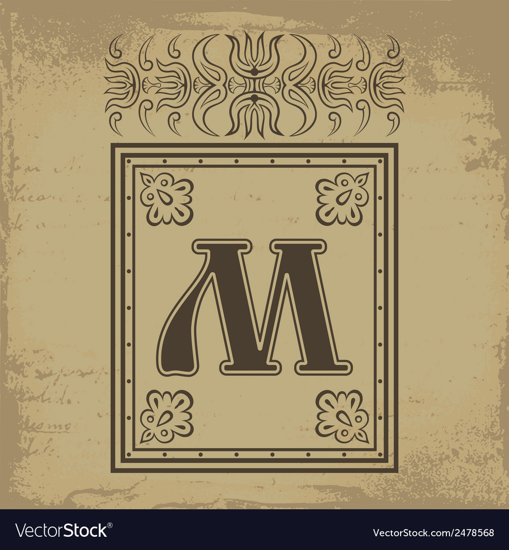 Letter m vector | Price: 1 Credit (USD $1)