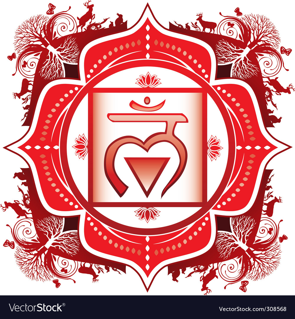 Root muladhara chakra vector | Price: 1 Credit (USD $1)