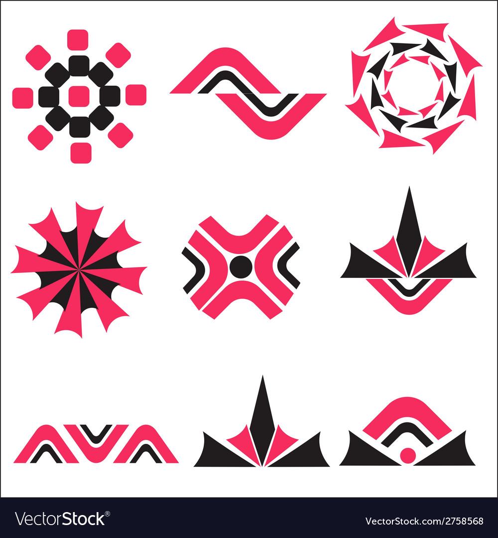 Set calligraphic design logo elements vector | Price: 1 Credit (USD $1)