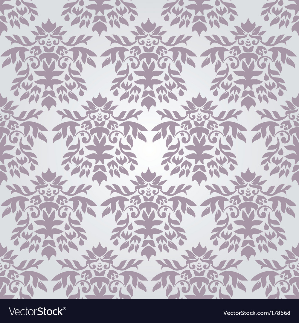 Silver damask wallpaper vector | Price: 1 Credit (USD $1)