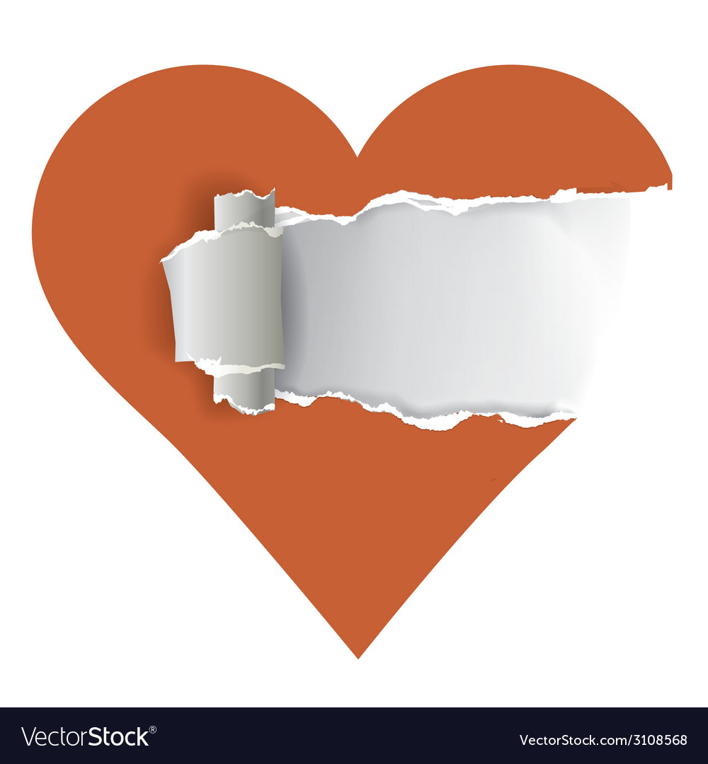 Torn paper heart vector | Price: 3 Credit (USD $3)