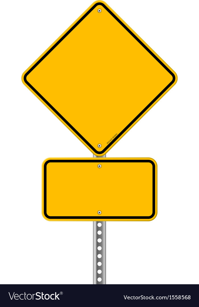 Yellow sign and pole vector | Price: 1 Credit (USD $1)