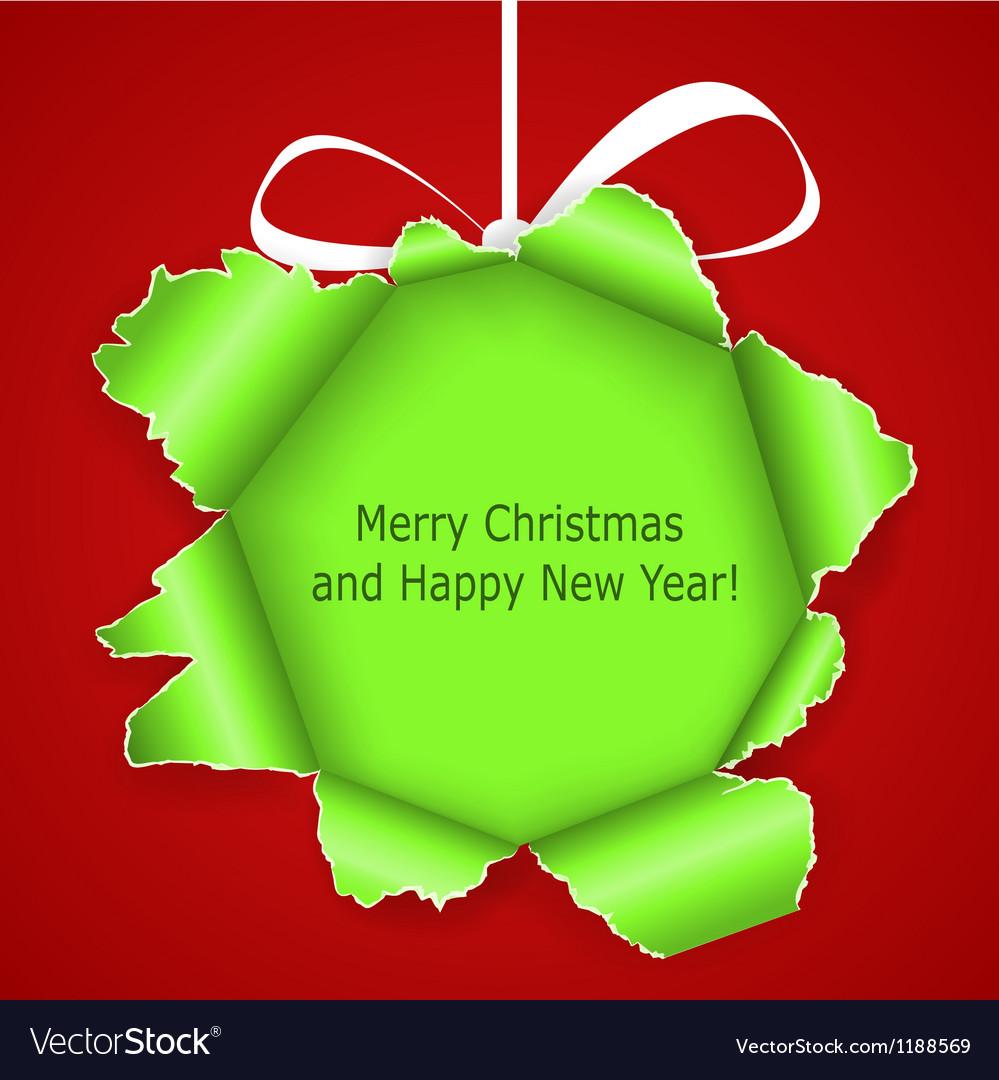 Abstract green christmas ball vector   Price: 1 Credit (USD $1)