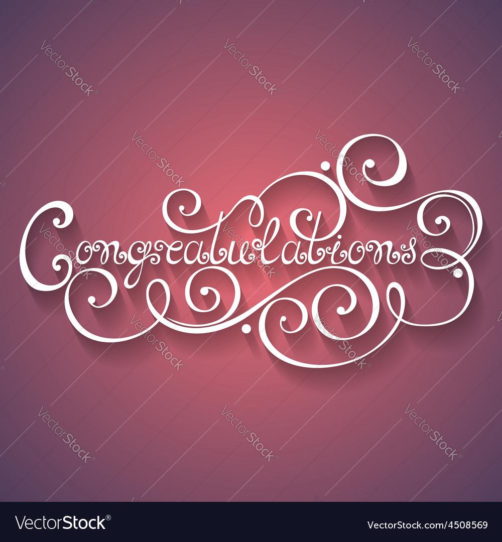 Congratulations inscription holiday invitation vector   Price: 1 Credit (USD $1)