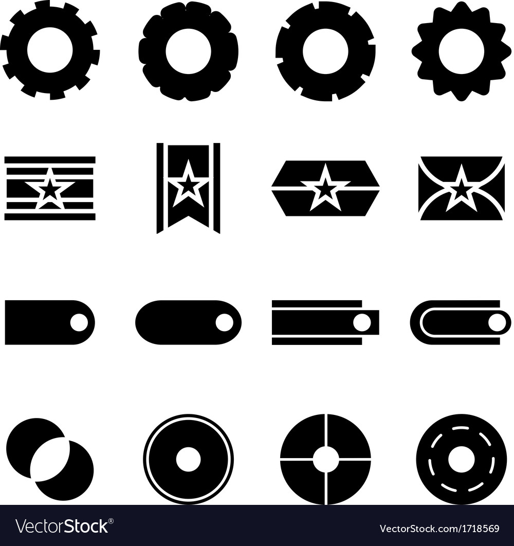 Create web icons on white background vector | Price: 1 Credit (USD $1)