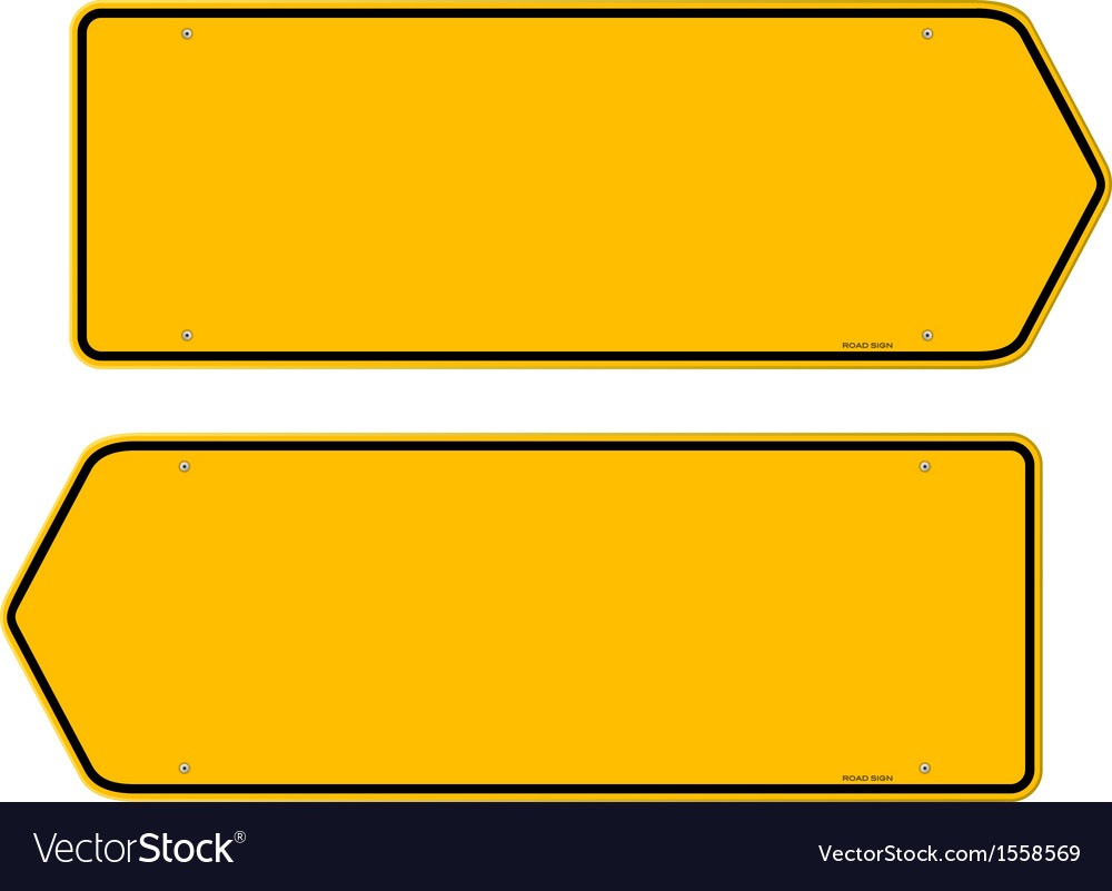 Directions yellow sign vector | Price: 1 Credit (USD $1)