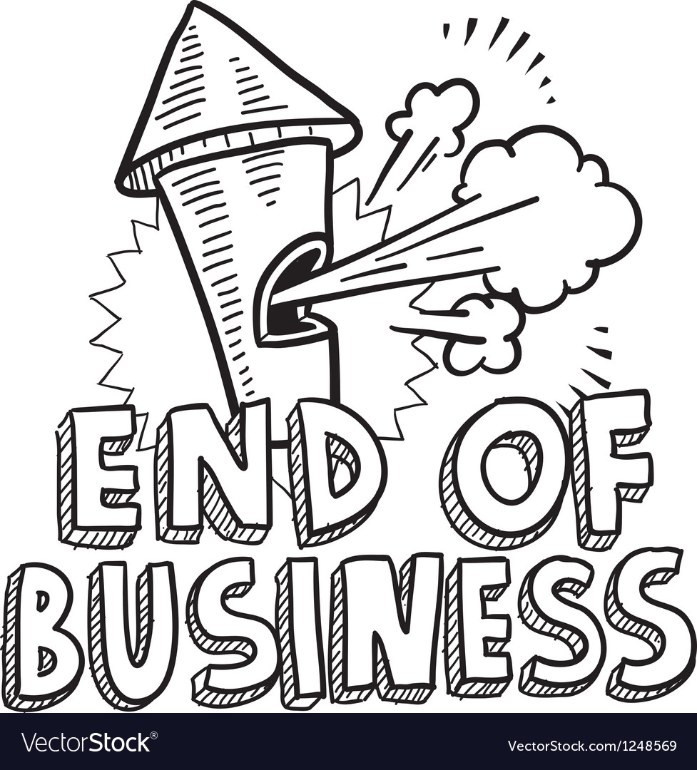 End of business vector | Price: 1 Credit (USD $1)