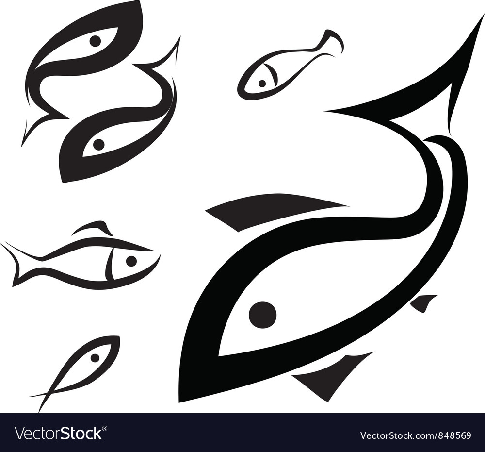 Fish symbol vector | Price: 1 Credit (USD $1)
